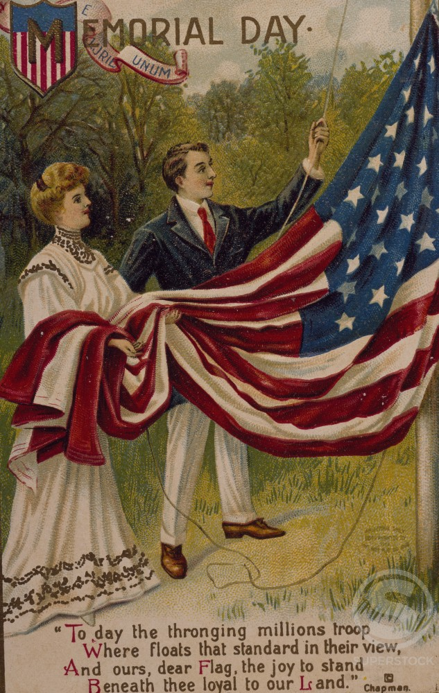 Stock Photo: 535-145817 Memorial Day, Nostalgia Cards