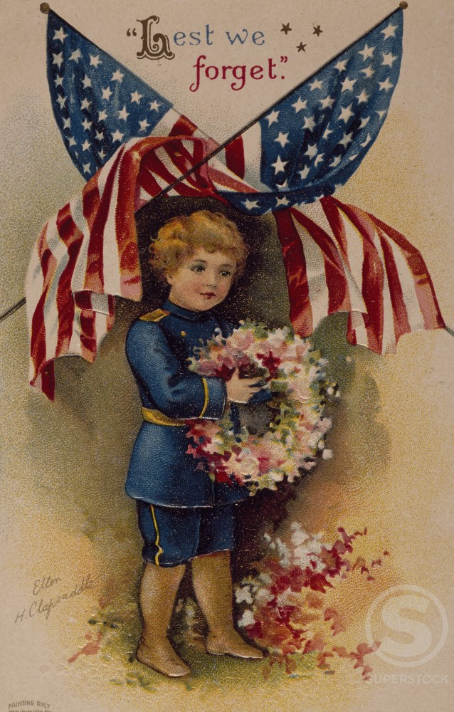 Memorial Day- Lest We Forget, Nostalgia Cards : Stock Photo