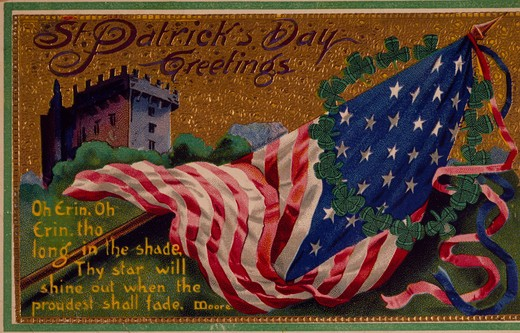 St. Patrick's Day Greetings, Nostalgia Cards : Stock Photo