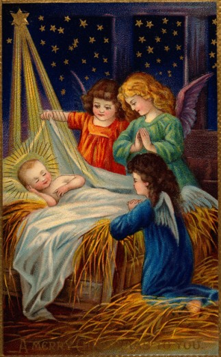 Stock Photo: 535-145864 Angels with Baby Jesus