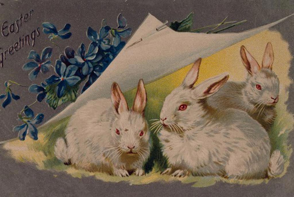 Easter Greetings, Nostalgia Cards : Stock Photo