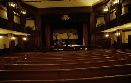 Interiors of a theater, Dock Street Theater, Charleston, South Carolina, USA : Stock Photo