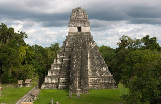 Stock Photo: 608-30989 Facade of a temple, Temple Of The Grand Jaguar, Tikal, Guatemala