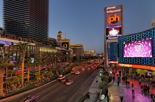 Hotel in a city, Planet Hollywood Resort And Casino, The Strip, Las Vegas, Nevada, USA : Stock Photo