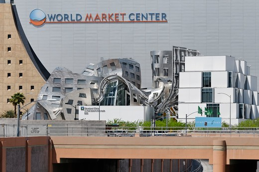 Stock Photo: 618-372 USA, Nevada, Las Vegas, Cleveland Clinic Lou Ruvo Center for Brain Health and World Market Center