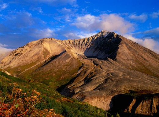 Stock Photo: 620-122E Extinct volcano, Wrangell-St. Elias National Park and Preserve, Alaska, USA