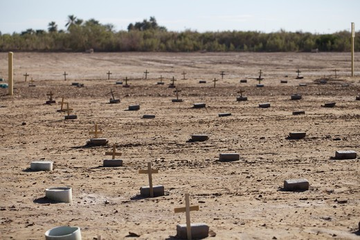 Stock Photo: 620-2955 Anonymous grave Terrace Park Cemetery, Holtville, Imperial County, California, USA