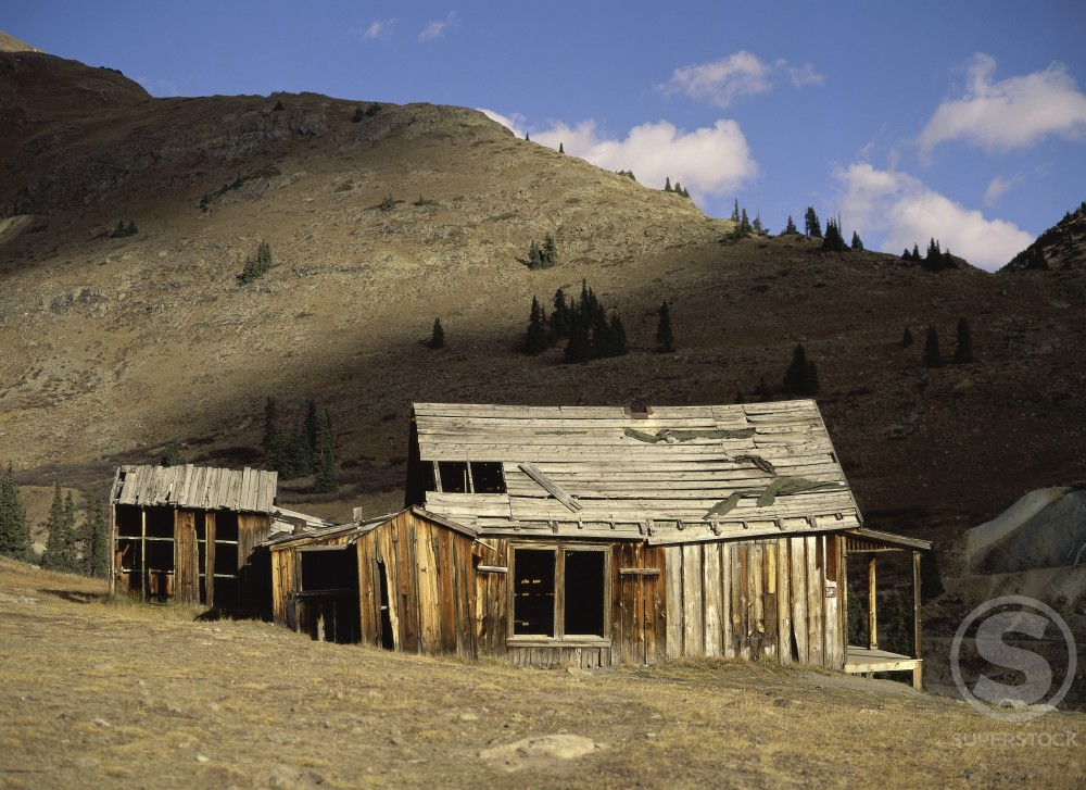 Stock Photo: 620-385 Animas Forks Ghost Town