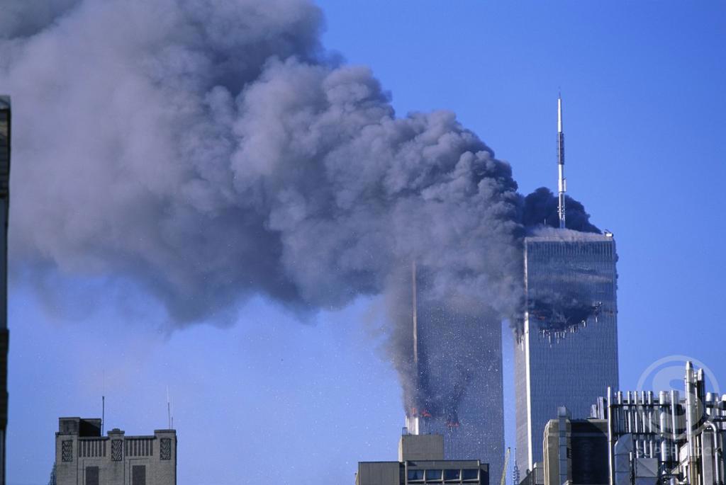 Stock Photo: 620-731 World Trade Center Attack September 11, 2001 New York City USA