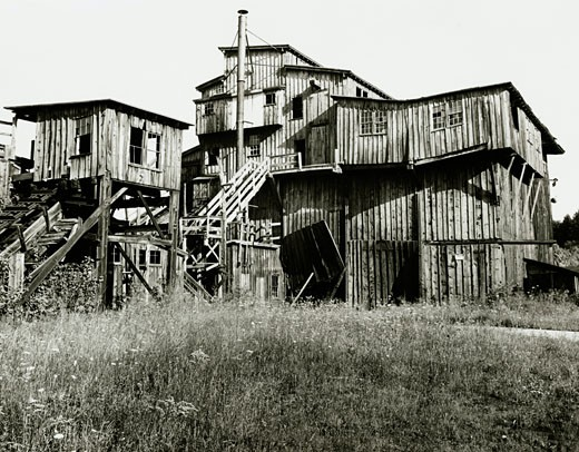 Stock Photo: 64-1453 Facade of an abandoned wooden coal tipple, Minersville, Pennsylvania, USA