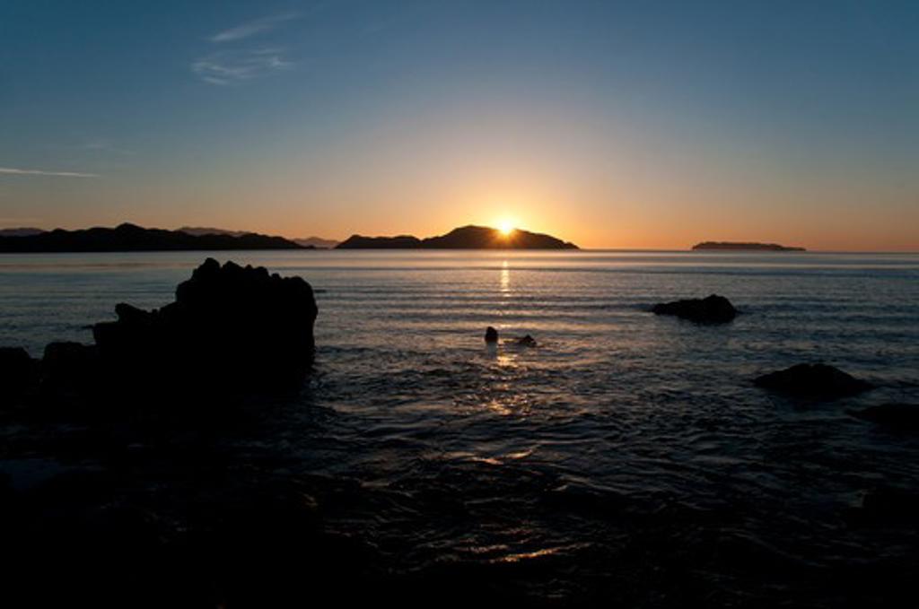 Mexico, Baja California, Sea Of Cortes, Bahia De Los Angeles : Stock Photo