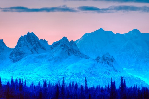 USA, Alaska, Alaska Range, Mt Hunter : Stock Photo