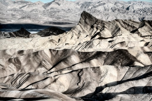 view from zabriskie point-death valley national park-california : Stock Photo