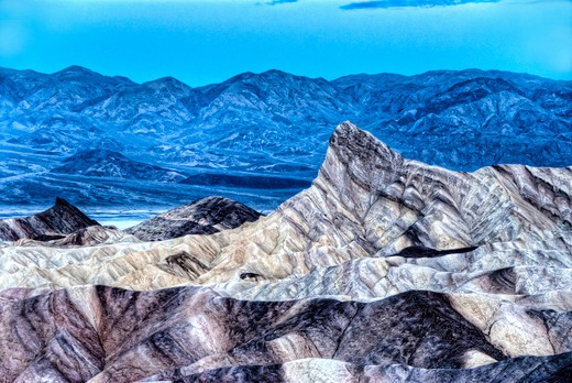 manley beacon-zabriskie point-death valley national park-california : Stock Photo