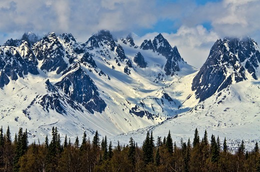 foothills of mt. foraker-alaska : Stock Photo