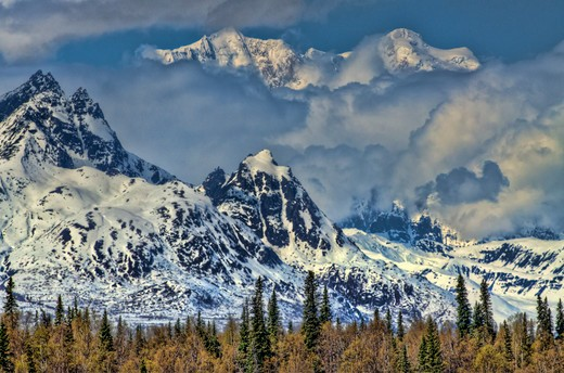 mt. hunter-alaska range : Stock Photo