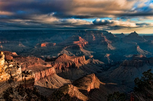 USA, Colorado, Grand Canyon National Park, View from South Rim : Stock Photo
