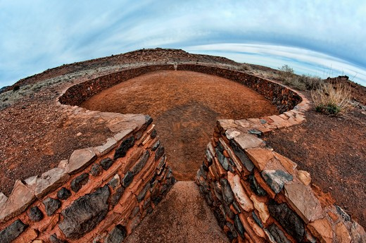 Stock Photo: 647-2496 USA, Arizona, Wupatki National Monument, Old ruins