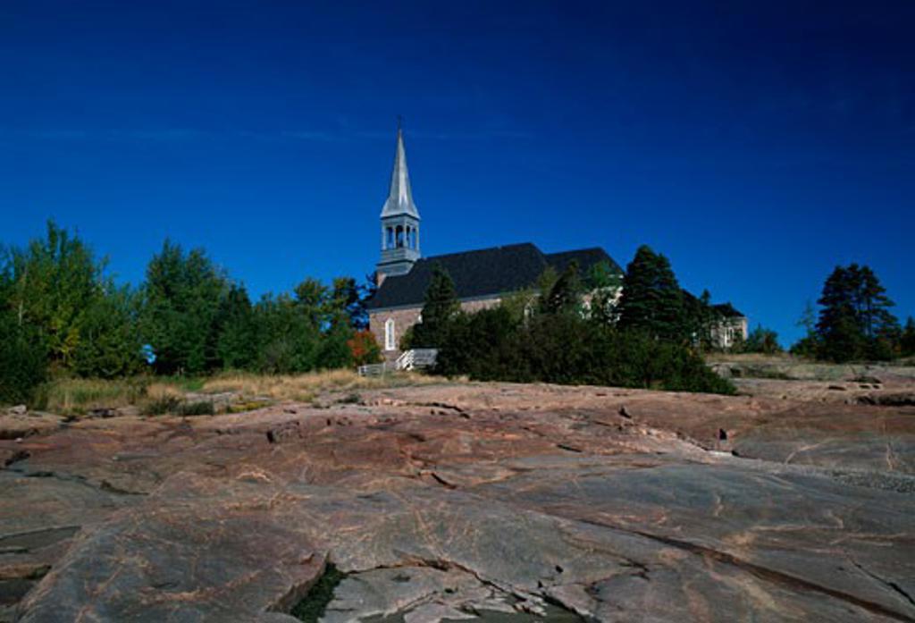 Stock Photo: 655-1010 Canada,  Quebec,  Longue-Rive,  St. Paul Church