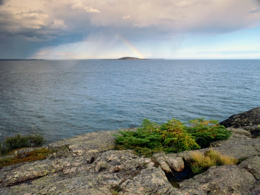 St. Lawrence River Quebec Canada : Stock Photo
