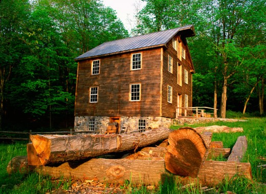 Stock Photo: 655-1571 Millbrook Mill, Delaware Water Gap National Recreation Area, New Jersey, USA