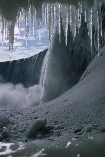 Stock Photo: 77-676A Icicles at Niagara Falls, Ontario, Canada