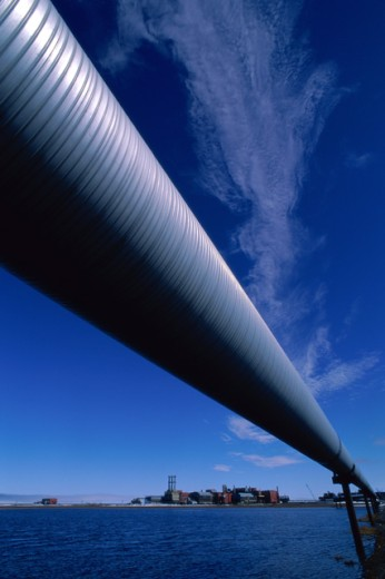Stock Photo: 805-7342 Trans Alaska Pipeline