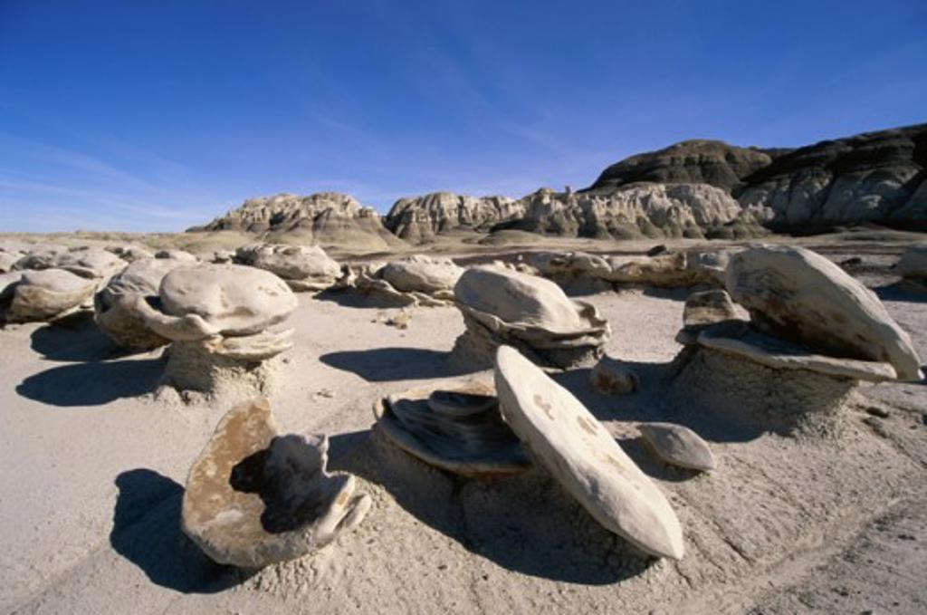 Stock Photo: 805-7523 Bisti Wilderness Area New Mexico USA