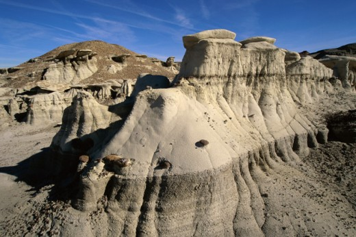 Stock Photo: 805-7526 Aerial view of natural sand formations, Bisti Wilderness Area, New Mexico, USA