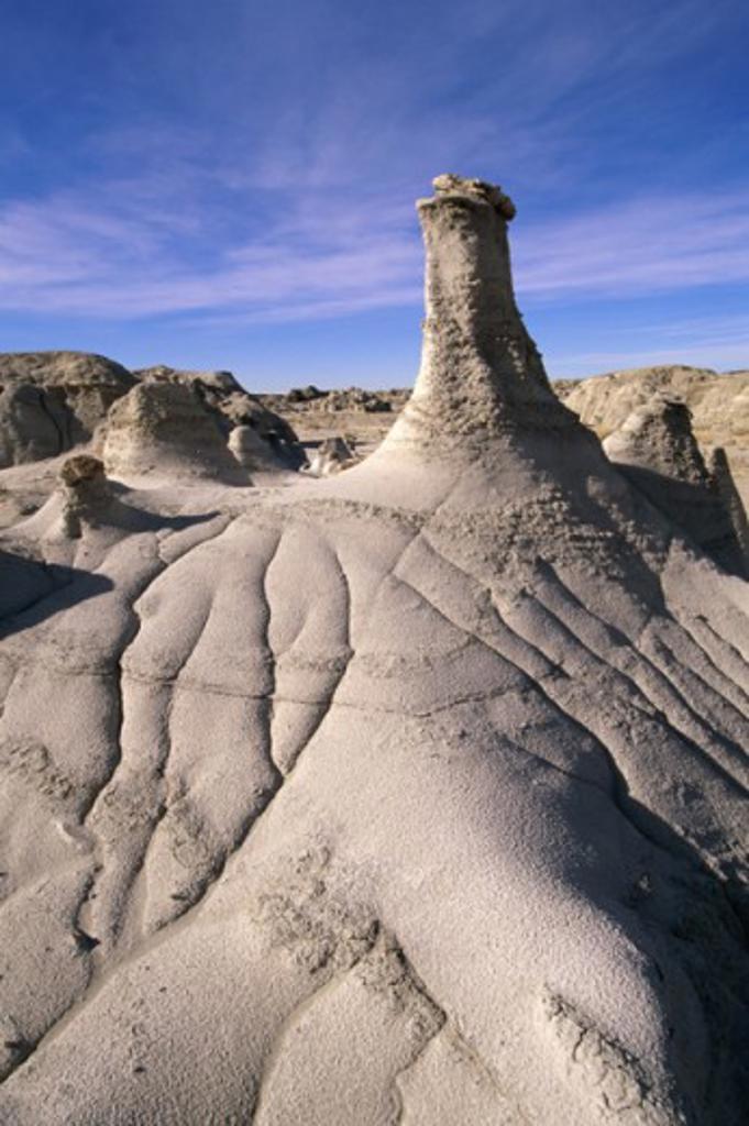 Stock Photo: 805-7527 Bisti Wilderness Area New Mexico USA