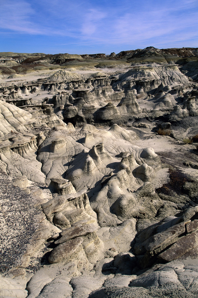 Stock Photo: 805R-7249 Rock formations at Bisti Wilderness Area, New Mexico, USA