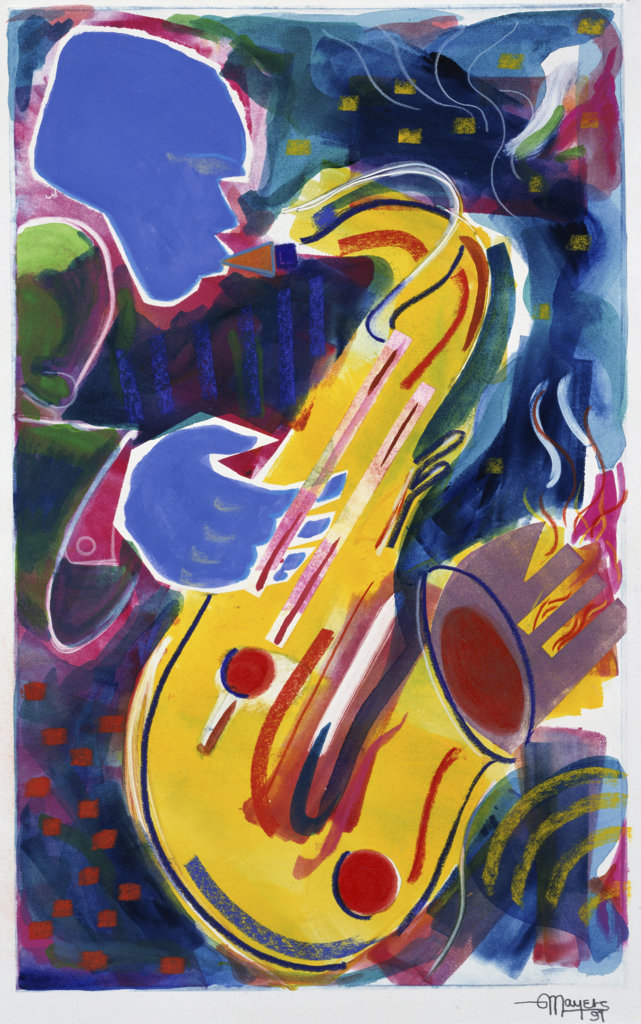 Stock Photo: 822-445 Hot Sax