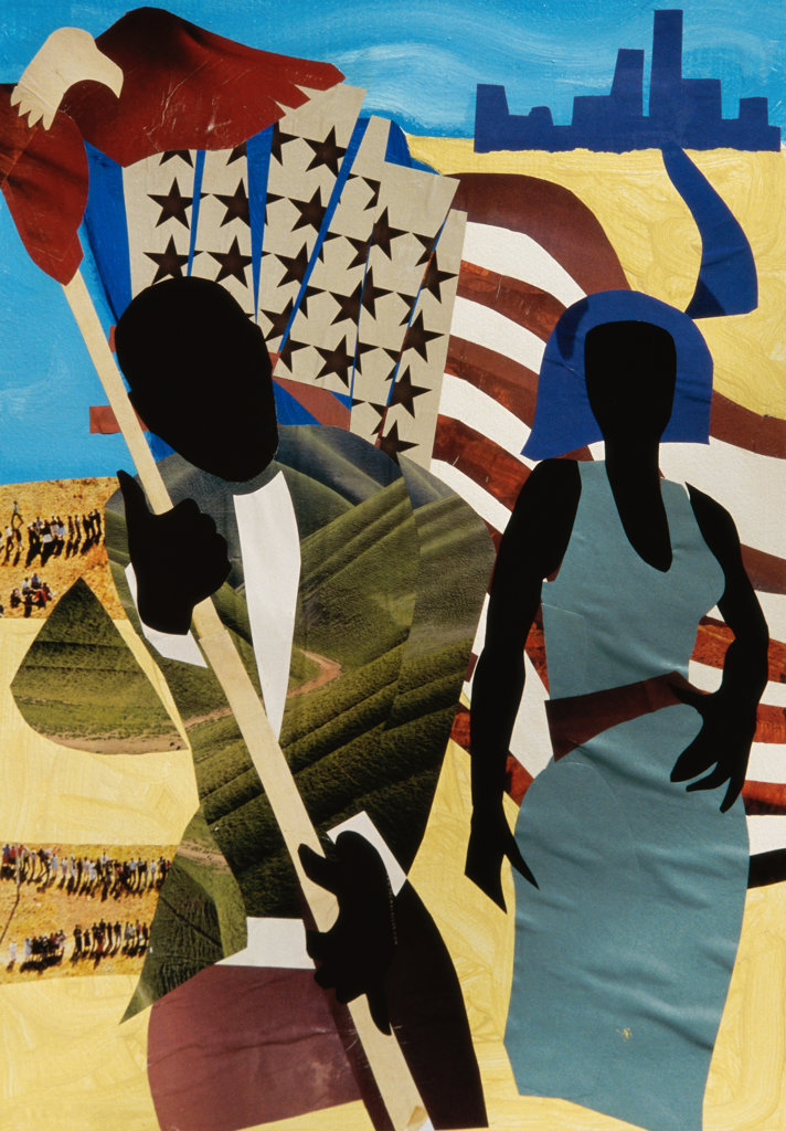 Stock Photo: 822-540 Freedom's Mission, 2005, Gil Mayers (b.1947/American), Collage