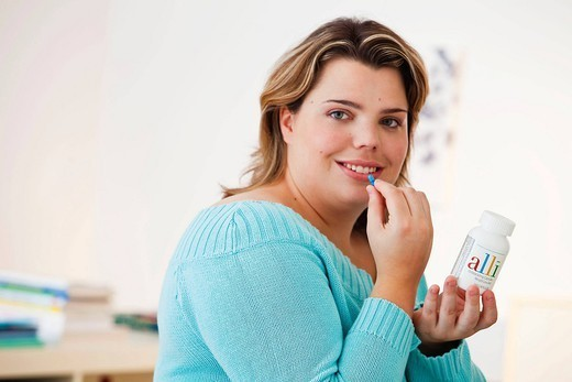 OBESITY TREATMENT FOR WOMAN : Stock Photo