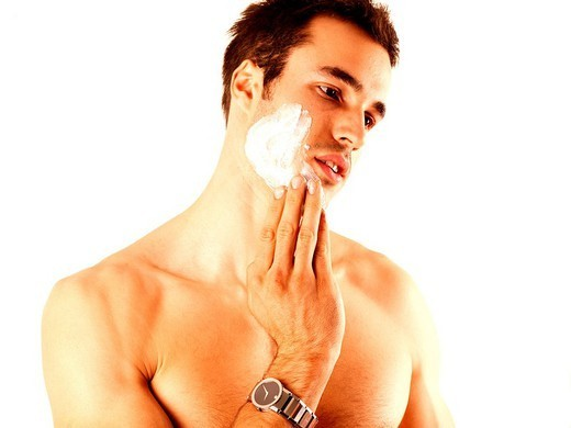 Stock Photo: 824-105545 FACE CARE, MAN. FACE CARE, MAN Worldwide distribution except for South Africa
