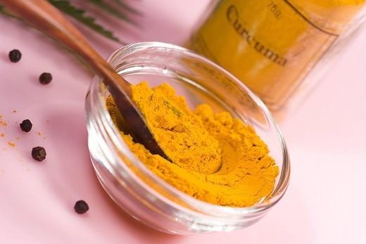 Stock Photo: 824-108634 TURMERIC. TURMERIC Turmeric in powder.