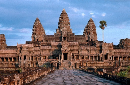 Stock Photo: 824-109132 ANGKOR, CAMBODIA. ANGKOR, CAMBODIA Temple of Angkor Wat, Cambodia (UNESCO world heritage site).
