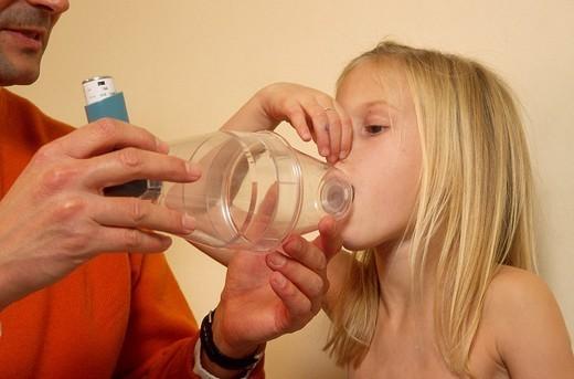 ASTHMA, CHILD : Stock Photo