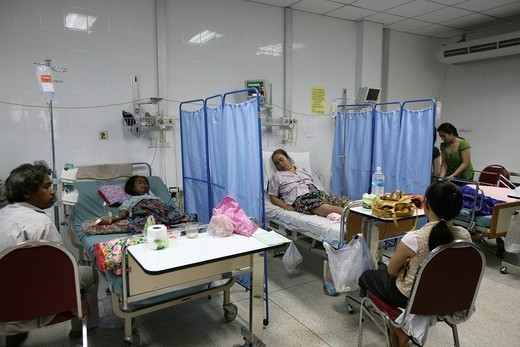 MEDICINE IN LAOS. Photo essay for press only. Department of resuscitation at the hospital Mahasot, Laos. : Stock Photo