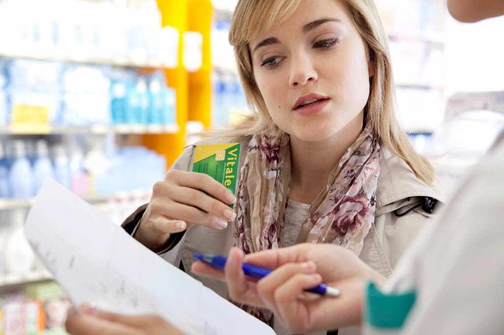 INTERIOR OF A CHEMIST´S SHOP : Stock Photo