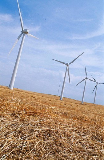 WIND POWER GENERATOR. WIND POWER GENERATOR Region of Navarra, Spain. : Stock Photo