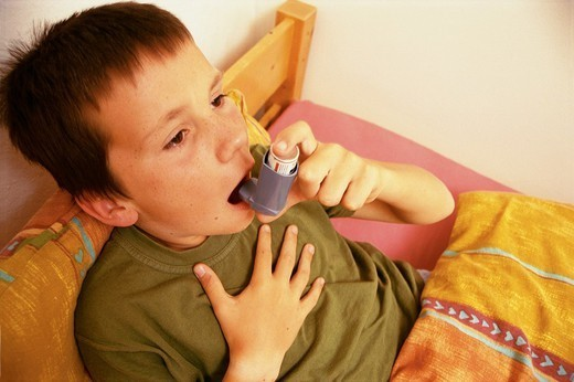 Stock Photo: 824-17529 ASTHMA, CHILD. ASTHMA, CHILD Model.