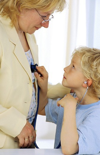 CHILD IN CONSULTATION. CHILD IN CONSULTATION Models. : Stock Photo