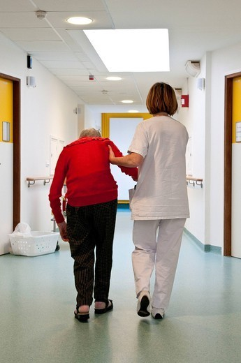Stock Photo: 824-18280 HOME FOR THE AGED. Photo essay from hospital.