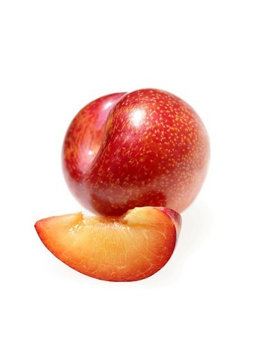 PLUM. PLUM Worldwide distribution except for South Africa : Stock Photo