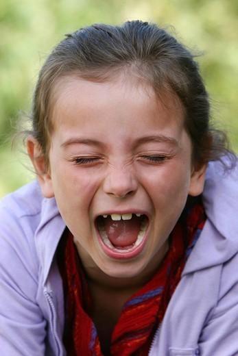 Stock Photo: 824-24308 HYPERACTIVE CHILD. Hyperactive child.