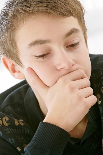 DISTRESSED ADOLESCENT. DISTRESSED ADOLESCENT Model. : Stock Photo
