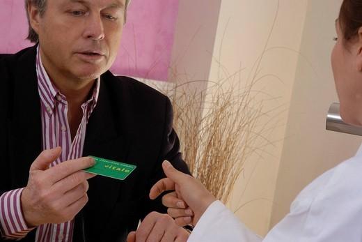 NAT´L HEALTH SERVICE CARD. Models. : Stock Photo