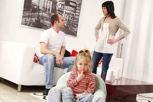 CONFLICT IN A FAMILY. CONFLICT IN A FAMILY Models. : Stock Photo