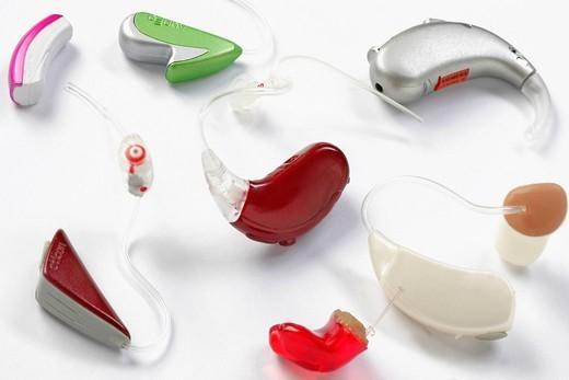 HEARING AID. Hearing aids. : Stock Photo